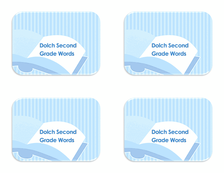 vocabulary flash cards template
