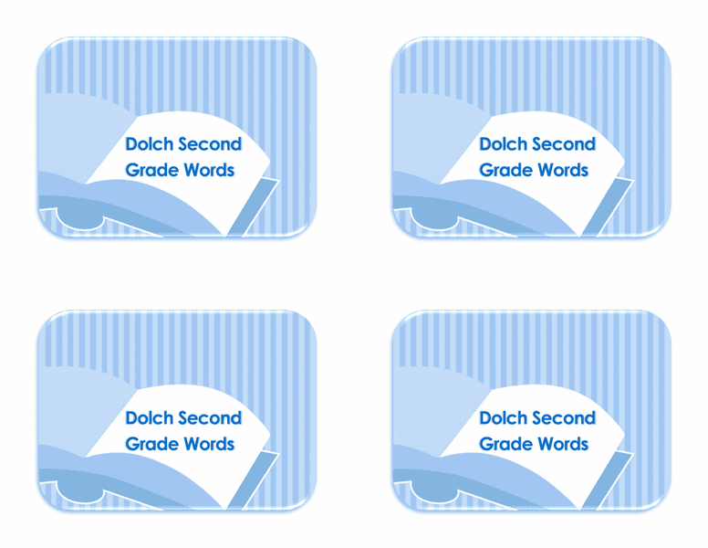 Vocabulary 2nd Grade Flash Card Template 04