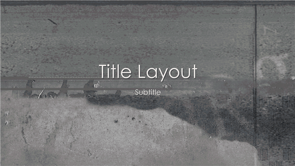 Writing On The Wall Design Slides Grayscale