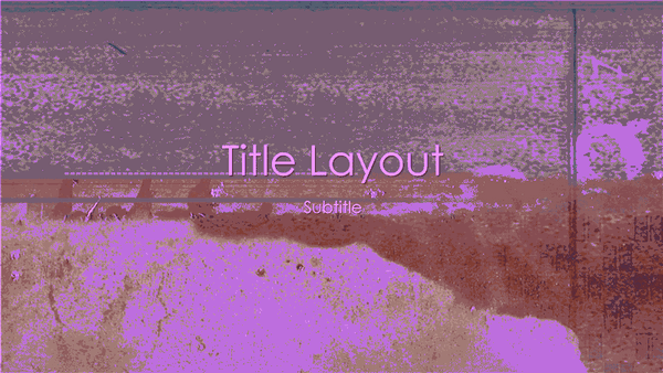 Writing On The Wall Design Slides Purple